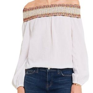 Tory Burch Sylvia Embroidered off Shoulder